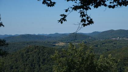 Panoramablick in die Pfälzer Berge