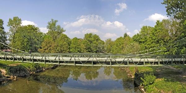 Kabelhängebrücke Langenargen auf der Hopfenschlaufe