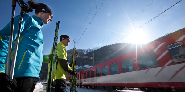 MGBahn use is included in the cross-country ski ticket