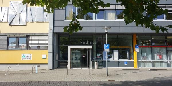 Blick auf den Neubau Rathaus Netphen