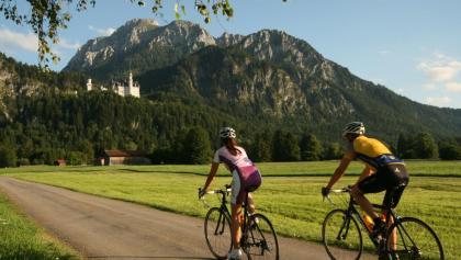 Auf dem Weg: Schloss Neuschwanstein bei Füsse