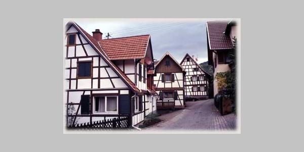 Fachwerkhäuser im alten Ortskern