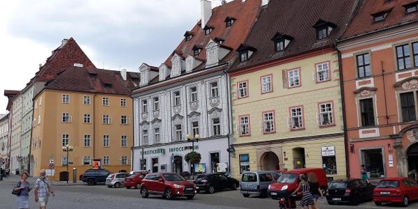 Tourist-Information auf dem Marktplatz in Eger