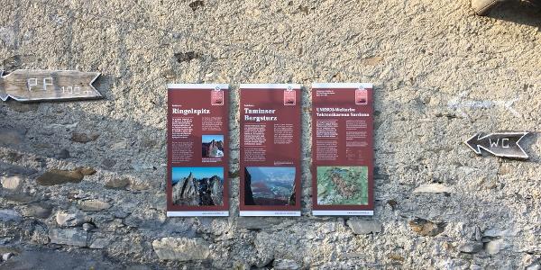 UNESCO-Infotafeln auf dem Kunkelspass