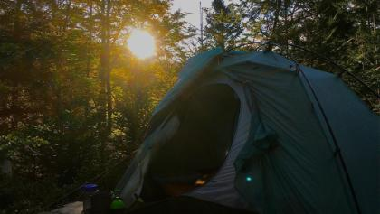 Sonnenaufgang am Camp Erdbeerloch
