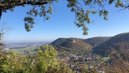 Blick vom Ostfelsen auf Heubach und Rosenstein