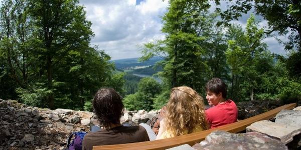 Blick auf die Talsperre bei Nonnweiler