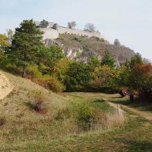 Auf dem Weg unterhalb der Burgruine