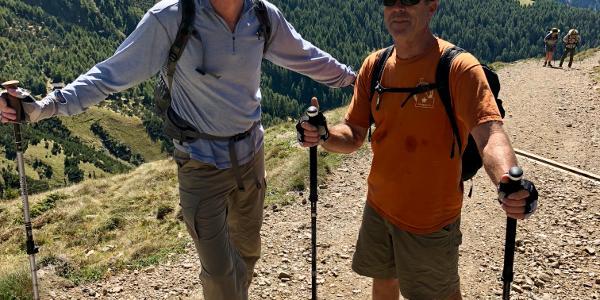 George & Baird Hiking to the summit of Toblacher  Pfannhorn
