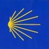 Logo und Markierungszeichen Jakobsweg Strahlenmuschel