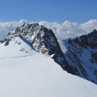 Unsere morgigen Ziele: zumsteinspitze, Dufourspitze und Nordend