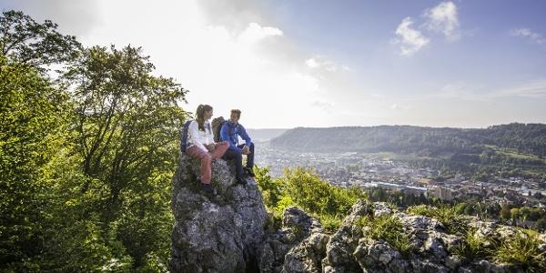 Ausblicke vom Schnecklesfels Traufgang Ochsenbergtour