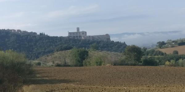 Erste Blick auf Assisi