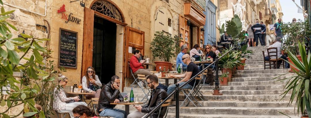 Treppe in Valletta