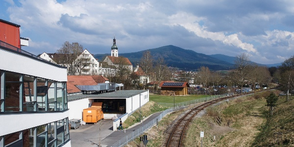 Blick über Bad Kötzting zum Kaitersberg