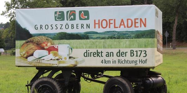 Werbewagen für den Hofladen Großzöbern