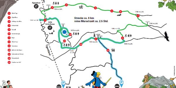Overview Globi hiking trail