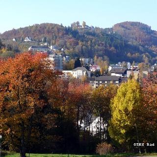 Stadtansicht - Blick vom Kurpark Bad Laasphe