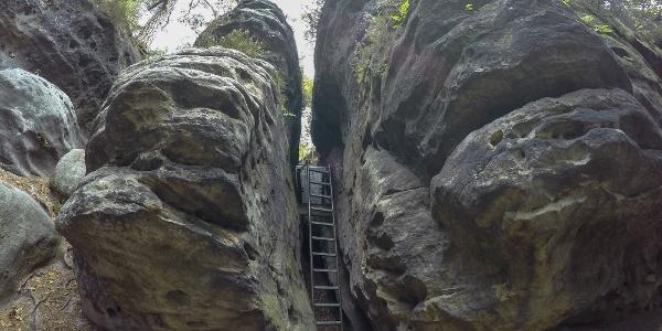 Der obere Teil der Falkenschlucht (Westaufstieg)