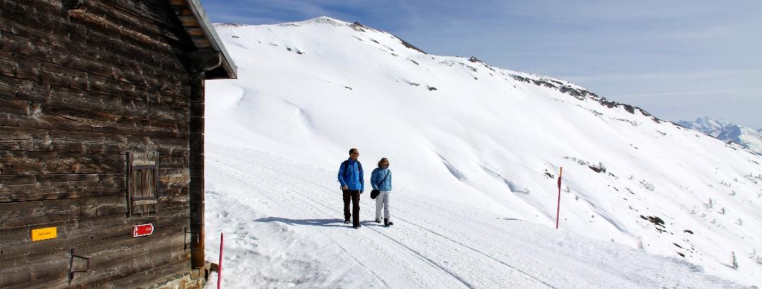 Winterwandern bei der Alten Sennhütte.