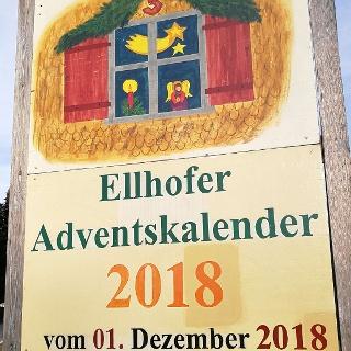 Ankündigung Ellhofer Adventskalender