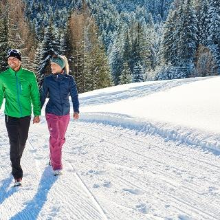 Winterwandern am Hochplateau Tschengla