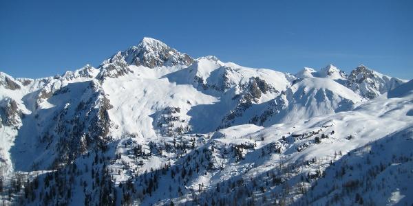 Panorama da cima Socede
