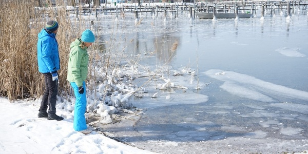 Chiemseeufer im Winter