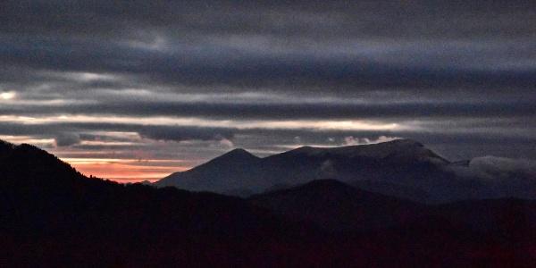 Sonnenuntergang hinter Porezen