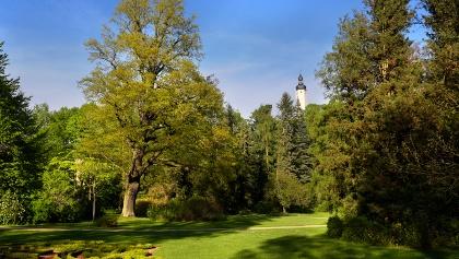 Blick vom Greizer Park zum Oberen Schloss