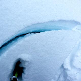 Bindung, Schnee bricht auf einer Schwachschicht
