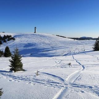 Bei schönem Wetter wirkt das Gipfelplateau auf dem Feldberg harmlos.