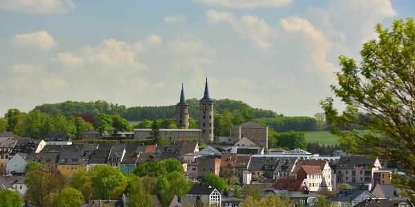 Blick auf Schleiz mit den beiden Schlosstürmen