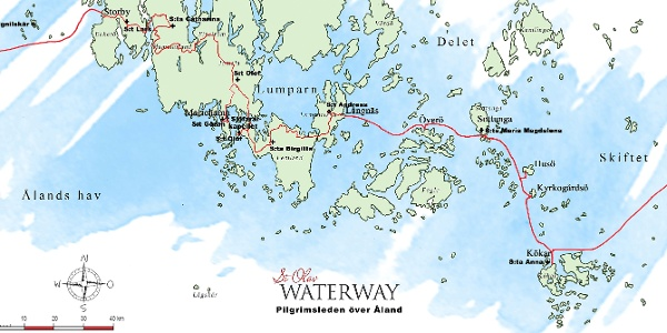St Olav Waterway - route over the Åland Islands