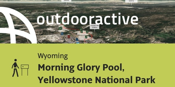 Themenweg in Wyoming: Morning Glory Pool, Yellowstone National Park