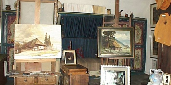Das Atelier des Malers und Mundartdichters Eugen Falk-Breitenbach aus Hausach