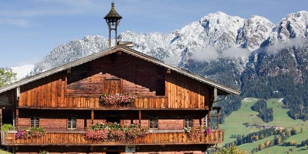 Bauernhof im Alpbachtal Spätherbst