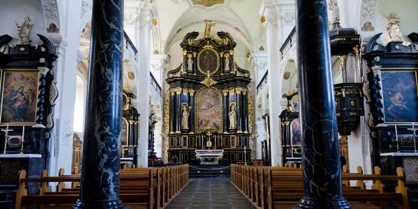 Imposantes Innenleben der Klosterkirche Pfäfers