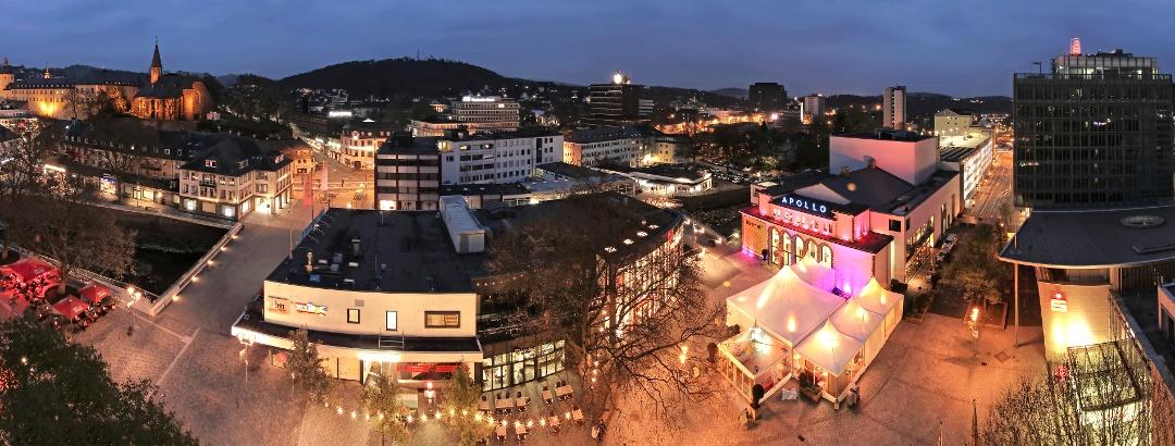 Abendblick Siegen Innenstadt