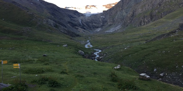 Blick von Rif Bezzi nach Süden Talschluss Valgrisenche
