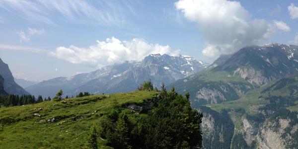 Blick auf die Berglandschaft