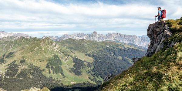 Blick vom Schwarzhornsattel