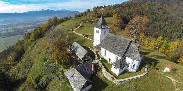 St. Peter's church, view towards the Julian Alps