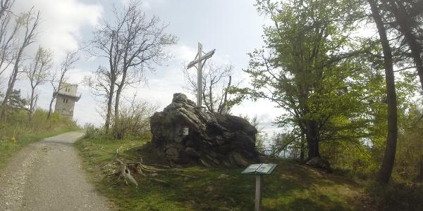 Gipfelkreuz in der Nähe des Geschriebensteins