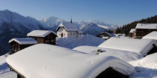 Winterwanderung von der Bettmeralp via Bettmersee, Gopplerlücke zur Riederalp