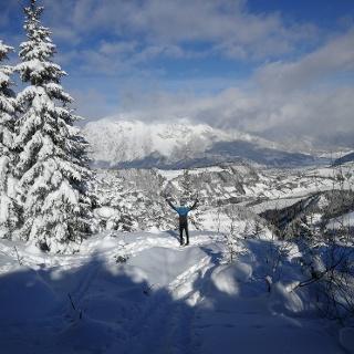 Aufstieg zur Galsterbergalm - Blick ins Ennstal