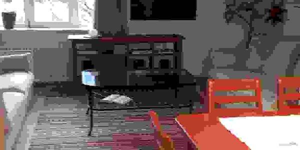 Essbereich mit Wohnzimmer
