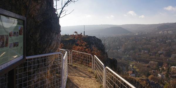 Nem mindennapi panorámasétány az Apáthy-sziklán, háttérben a Zugligettel és a Széchenyi-heggyel