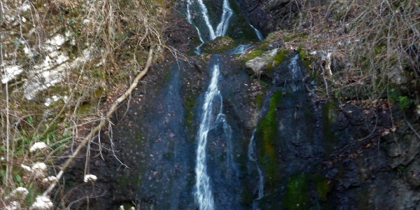 Waterfalls of the Sopotnica Stream along the first section of the trail