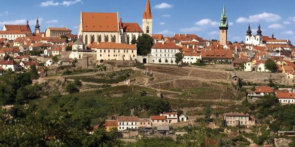 Znojemské panorama s kostelem sv. Mikuláše